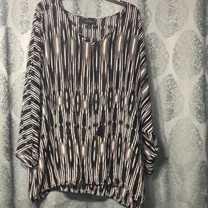 Black and white swim cover up